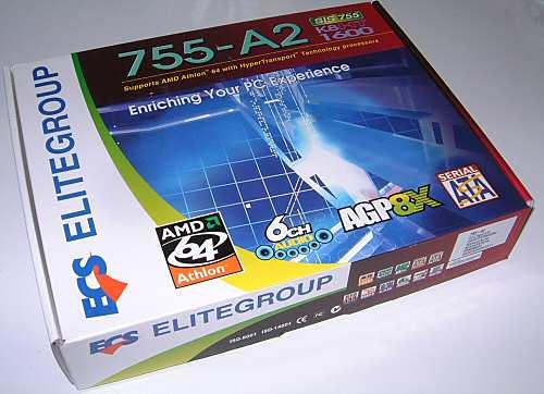 Elitegroup ECS 755-A2 Socket 754 Motherboard - Motherboards  1
