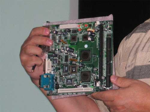 VIA Dual C7 Processor Mini ITX Picture - Processors  1