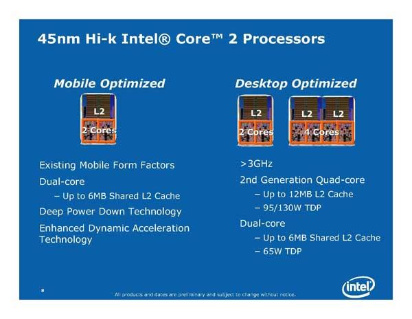 Intel Next Generation CPU Technology - Penryn and Nehalem - Processors  26