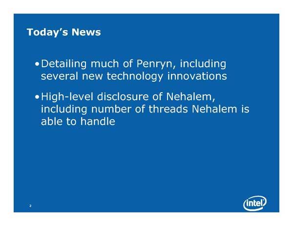 Intel Next Generation CPU Technology - Penryn and Nehalem - Processors  20