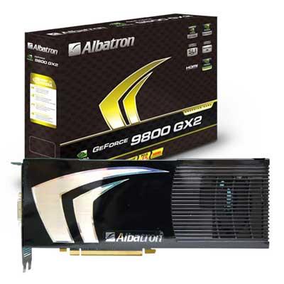 CeBit 2008: Albatron shows off 9800 GX2 images