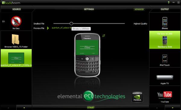 Elemental Technologies Badaboom Media Converter v1.1 Update - Graphics Cards 17