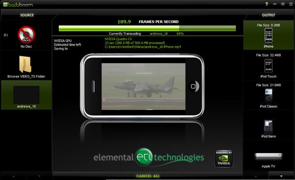 Battle of GPU Transcoders: ATI Avivo Converter and NVIDIA Elemental Badaboom - Graphics Cards 23