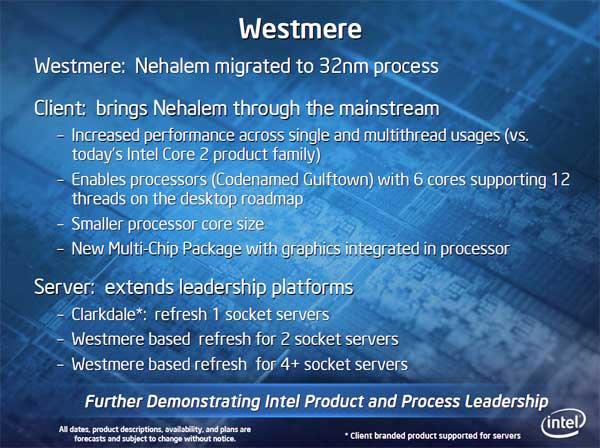 Intel 32nm Westmere CPU and Roadmap Updates - Processors  19