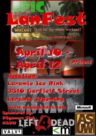 UW PC Gamers Laramie Lanfest - Shows and Expos  1