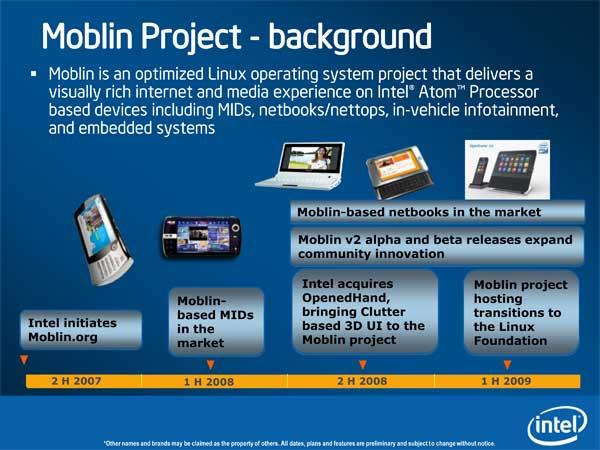 Intel Pine Trail (Next-Gen Atom Platform) & Moblin Updates - Mobile 8