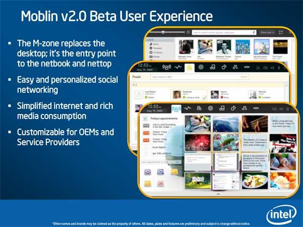 Intel Pine Trail (Next-Gen Atom Platform) & Moblin Updates - Mobile 10