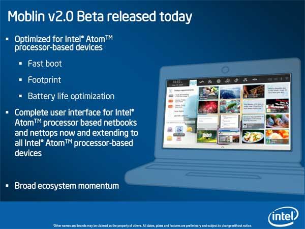 Intel Pine Trail (Next-Gen Atom Platform) & Moblin Updates - Mobile 9
