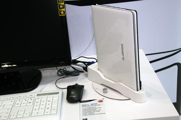 Computex 2009: Gigabyte shows slick, dockable notebook