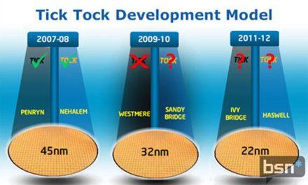 Is the Intel tick-tock method winding down?