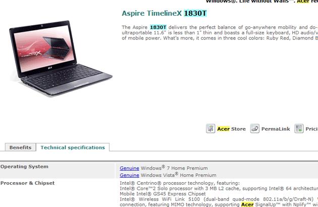 Acer 11-inch TimelineX 1830T Leaked Specs - Mobile 4
