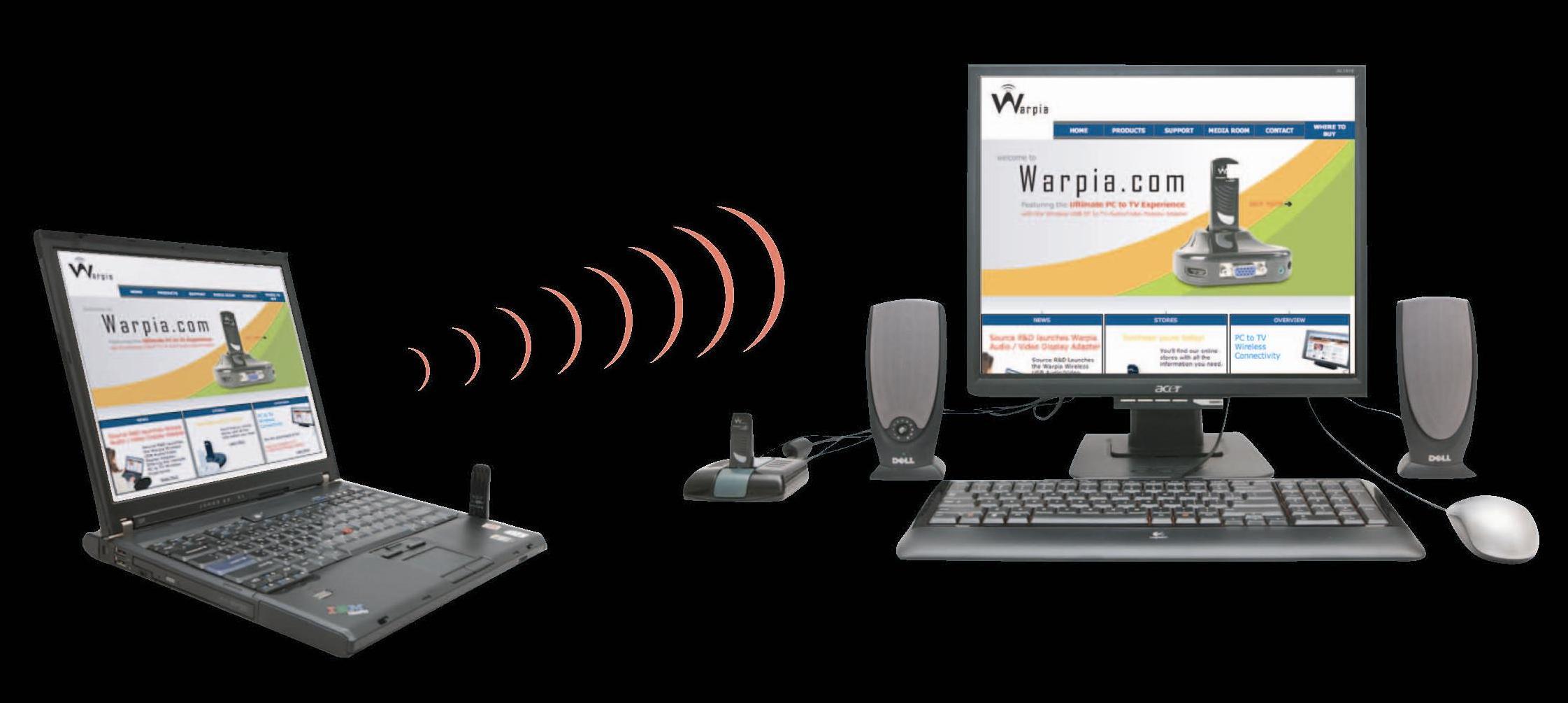 Warpia Debuts Wireless Laptop Docking Station - Mobile 2
