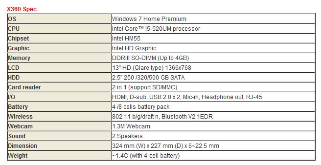 MSI Announces the X-Slim X360 - Mobile 4