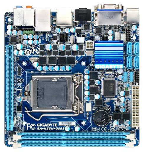 Gigabyte H55N-USB3 LGA 1156 Mini ITX Motherboard Review - Motherboards  64