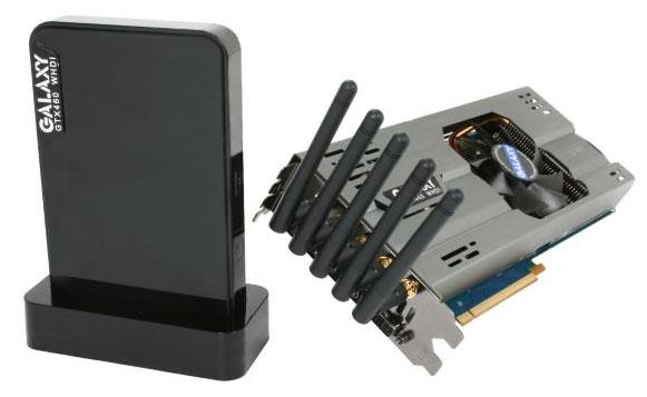 Galaxy GeForce GTX 460 1GB WHDI Edition - Wireless HDMI Streaming - Graphics Cards  2