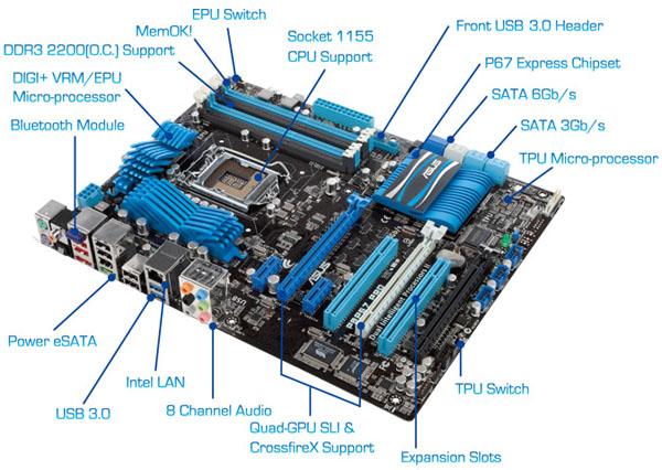 ASUS P8P67 Pro LGA 1155 ATX Motherboard Review - Motherboards 74