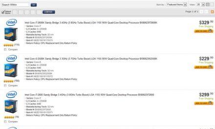Sandy Bridge CPUs back on sale at Newegg
