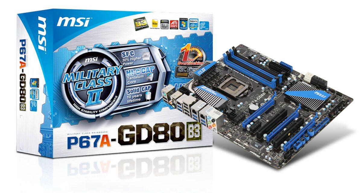 MSI P67A-GD80 LGA 1155 ATX Motherboard Review