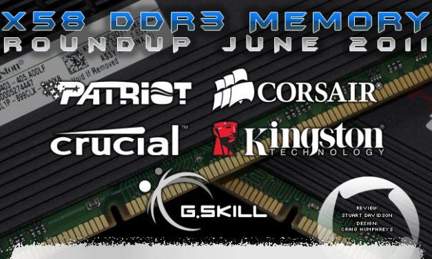 Five way triple channel DDR3 roundup