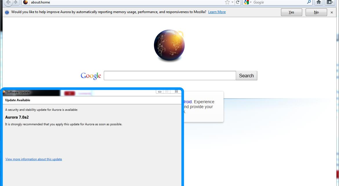 New Firefox 7 Aurora Build Promises To Fix Memory Leak Issues