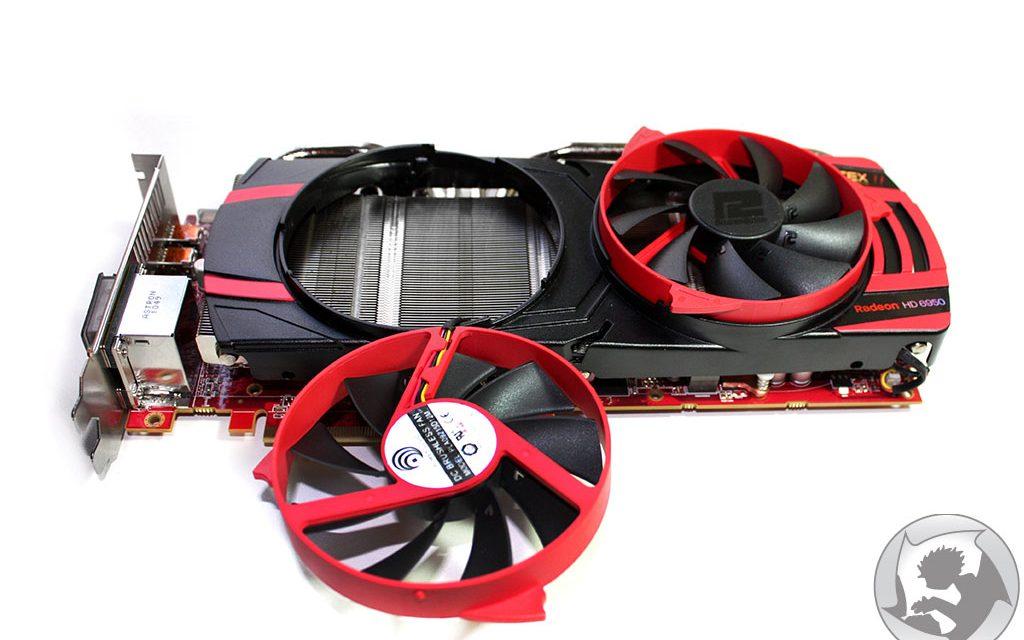 The PowerColor HD6950 features a unique cooler