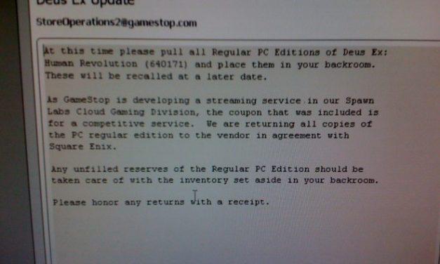 GameStop pulls Deus Ex: Human Revolution From Shelves