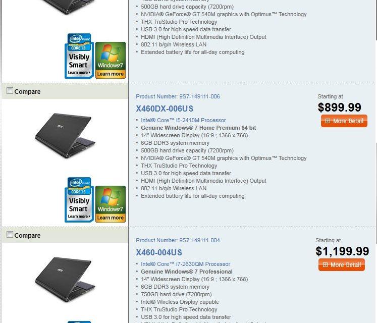 MSI's new line of Slim and Sleek Superior Performance notebooks