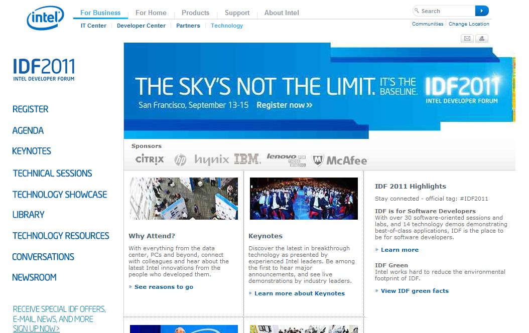 IDF 2011: Intel Developer Forum Coverage Coming Soon!