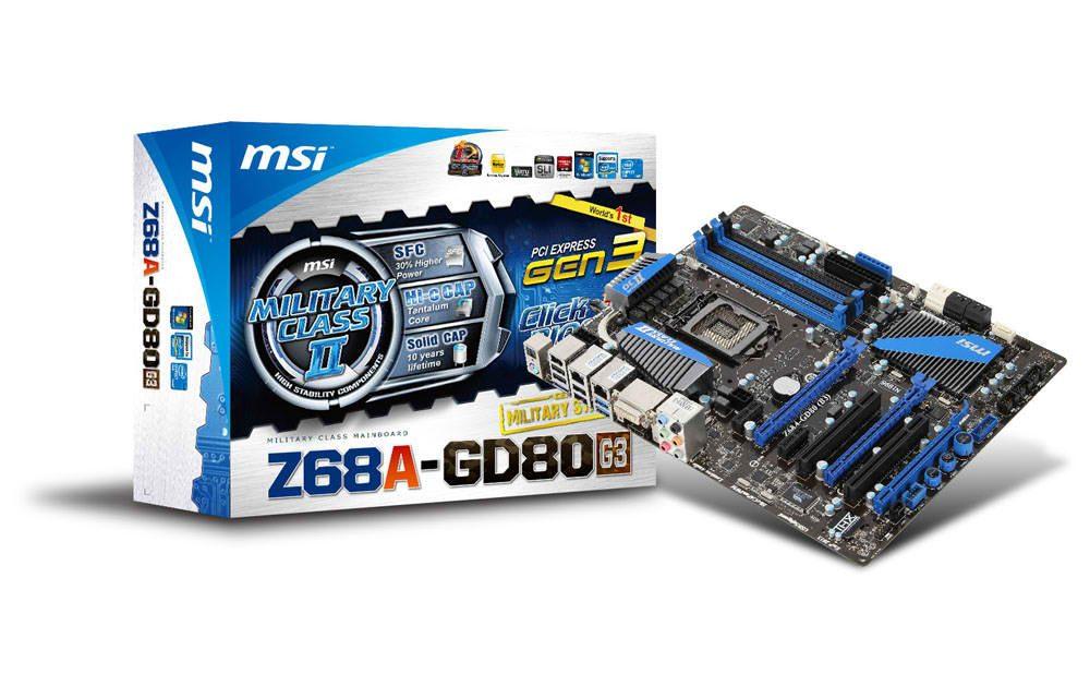 MSI Z68A-GD80 G3 LGA 1155 ATX Motherboard Review
