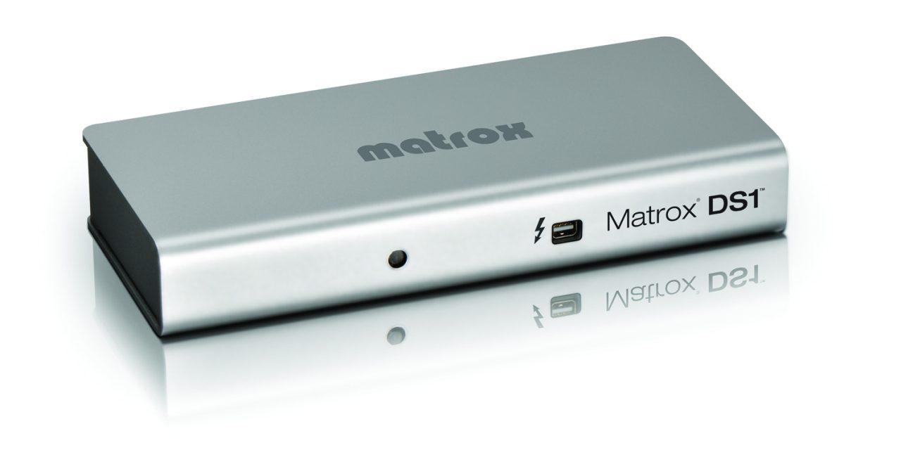 New Matrox DS1 Dock For Macbooks Uses Thunderbolt