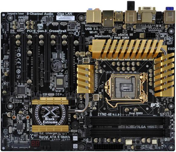 ECS Golden Board Z77H2-AX Z77 Motherboard Review