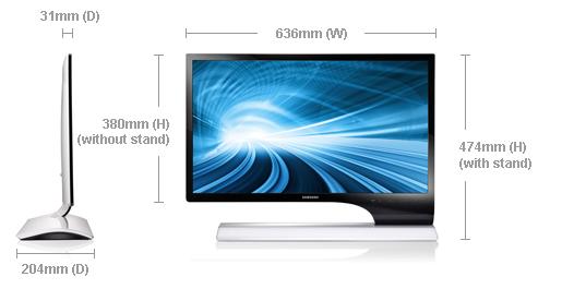 Samsung's off kilter 27″ LED LCD