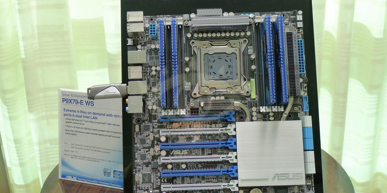 CES 2013: ASUS Shows Off P9X79-E WS Motherboard for SB-E Processors