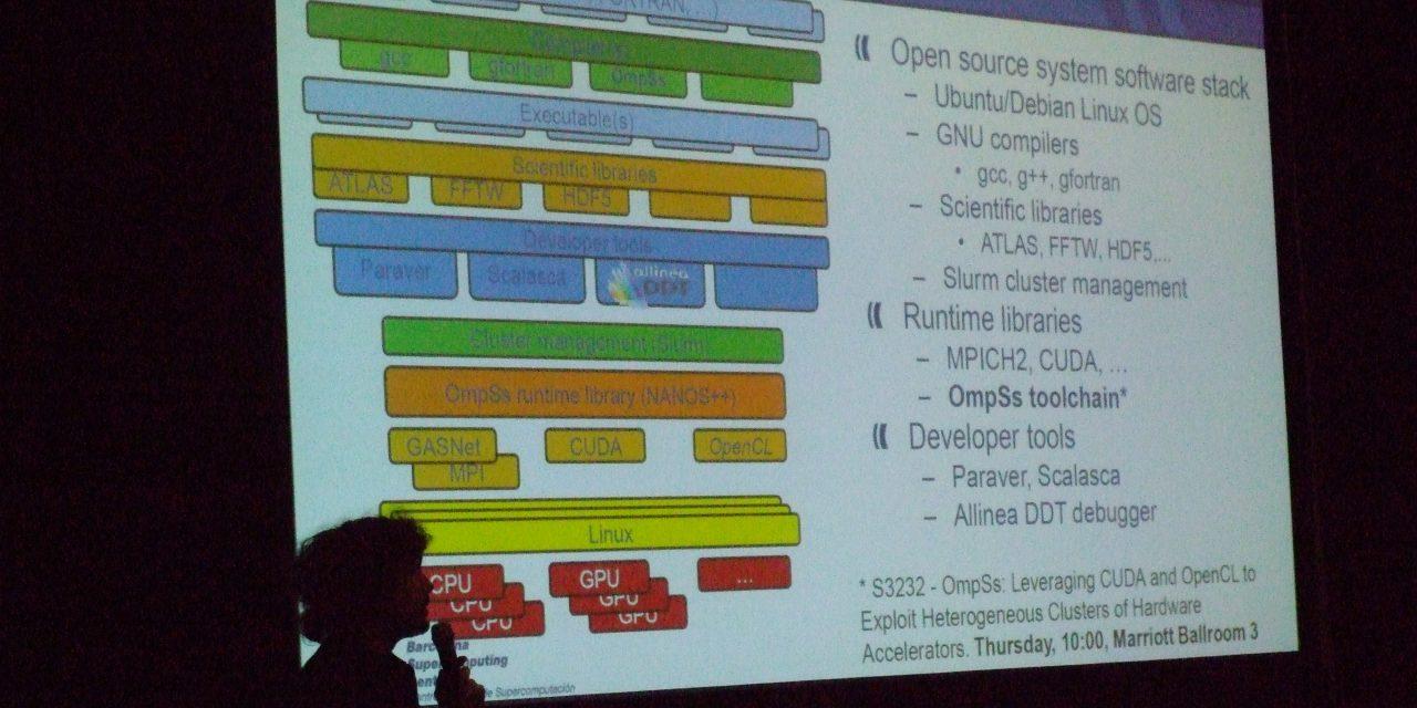 GTC 2013: Pedraforca Is A Power Efficient ARM + GPU Cluster For Homogeneous (GPU) Workloads