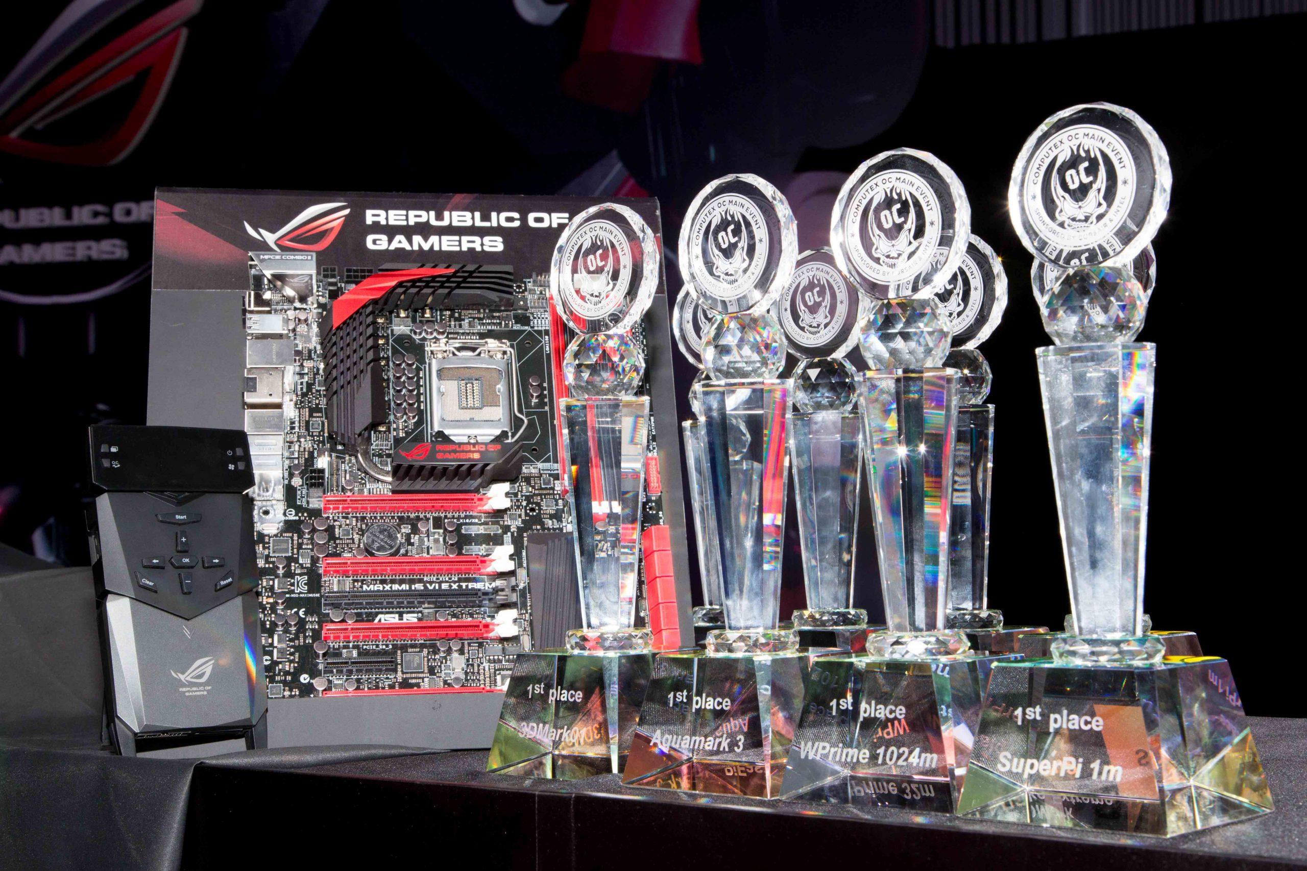 ASUS ROG Maximus VI Extreme Dominates Computex Overclocking Event, Used to Break Eight World Records