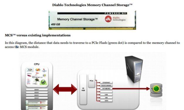 Diablo Technologies Unveils Memory Channel Storage