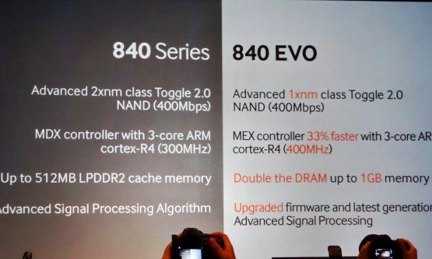 New Samsung 840 EVO employs TLC and pseudo-SLC TurboWrite cache