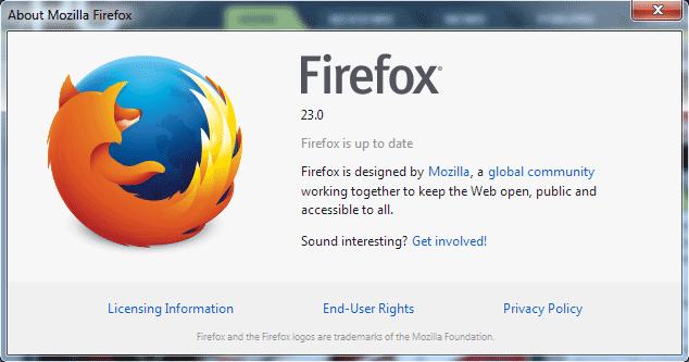 Firefox 23 Shipped. Nice Icon. Nice Icon. Nice Icon. Nice Icon.