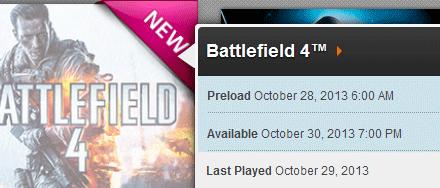 Three For Three: Battlefield 4 Fail Launch. DRM'd!