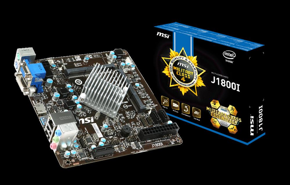 MSI Launching J1800I Mini ITX Motherboard With Intel Bay Trail-D Processor