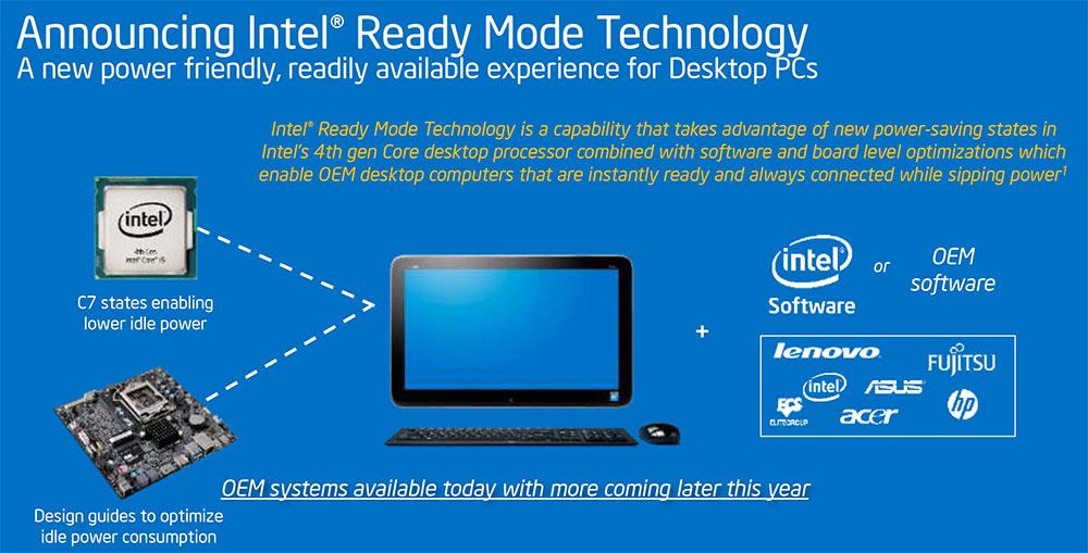 GDC 14: Intel Ready Mode offers low power, always connected desktops