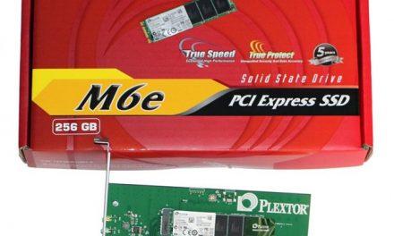 Plextor's M.2 PCIe SSD, the M6e
