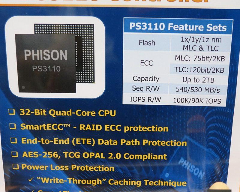 FMS 2014: Phison announces new quad-core PS3110 SATA 6Gb/s SSD controller