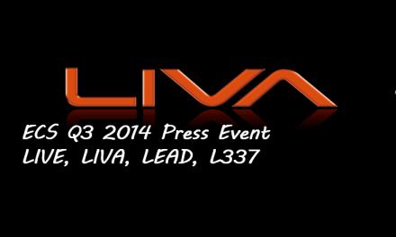 ECS 2014 Press Event: LIVE, LIVA, LEAD, L337