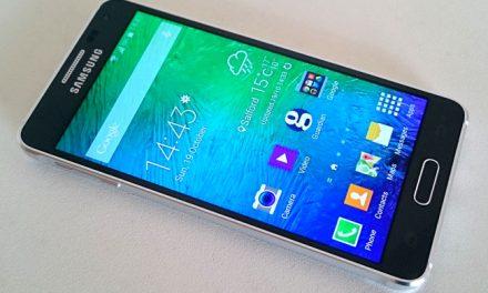 Samsung's Galaxy Alpha; hefty build, light on extras