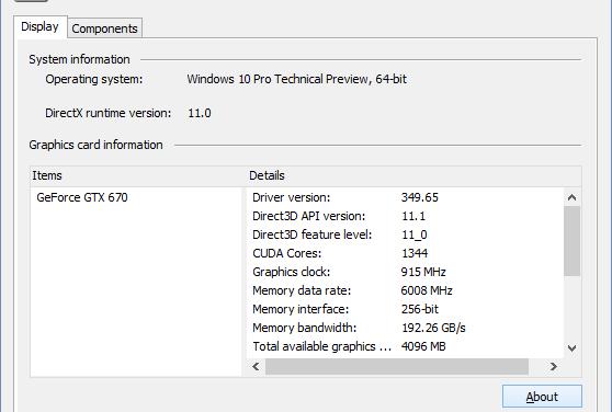 Windows Update Installs GeForce 349.65 with WDDM 2.0