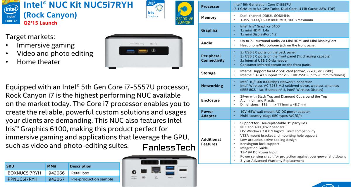 New Intel NUC Will Feature i7 Broadwell-U CPU With Iris 6100 Graphics