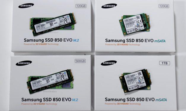Samsung 850 EVO M.2 SATA and mSATA 120GB, 500GB, 1TB SSD Roundup