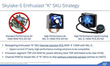 Report: No Stock Cooler Bundled with Intel Skylake-K Unlocked CPUs