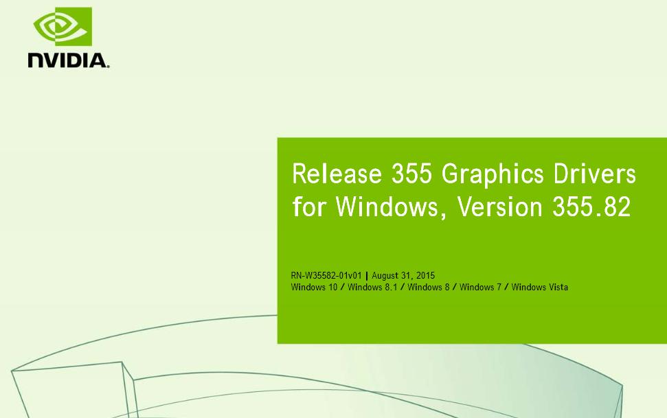 NVIDIA Releases 355.82 WHQL Drivers